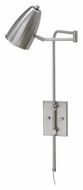 House of Troy C175-SN Cambridge Swing Arm Transitional Satin Nickel Wall Lamp - 29 Inches Tall