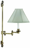 House of Troy LL662AAB LL662A Decorative Swing Arm Wall Lamp in Antique Brass