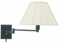 House of Troy WS1691 WS16 Decorative Swing Arm Wall Lamp in Oil Rubbed Bronze