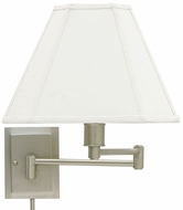 House of Troy WS1631 WS16 Decorative Swing Arm Wall Lamp in Pewter