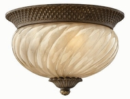 Hinkley 2128-PZ Plantation Tropical Outdoor Two-Light Ceiling Light with Fluorescent Option