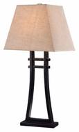 Kenroy Home 32270GFBR Fusion Golden Flecked Bronze Asian Style Table Light