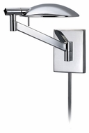 Sonneman 7085.01 Perch Pharmacy Contemporary 19 Inch Wide Polished Chrome Swing Arm Wall Lamp