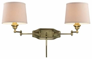 ELK 112212 Westbrook Dual Swing Arm Lamp in Antique Brass