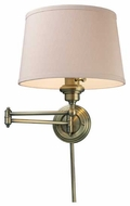 ELK 112201 Westbrook Swing Arm Lamp in Antique Brass