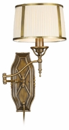 ELK 11051/1 Williamsport Wall Swing Arm Lamp with Fabric Shade