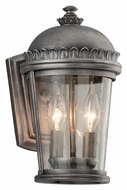 Troy B3561 Ambassador Small 12 Inch Tall Aged Pewter Outdoor Wall Sconce