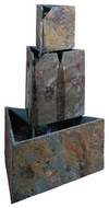 Kenroy Home Stacked Triangles Contemporary Outdoor Garden Fountain