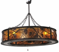 Meyda Tiffany 108443 Chandel-Air Whispering Pines Rustic Pendant Light