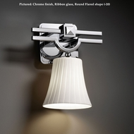 Justice Design FSN-8501 Argyle 10 Inch Tall Transitional Fusion Glass Wall Light