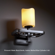 Justice Design CNDL-8561 Arcadia 10 Inch Tall Transitional Light Sconce With Finish Options