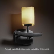 Justice Design CNDL-8591 Archway 11 Inch Tall Transitional Candlearia Wall Light Fixture