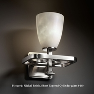 Justice Design CLD-8561 Arcadia Cloud Glass 9 Inch Wide Transitional Light Sconce With Finish Options