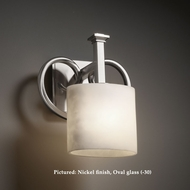 Justice Design CLD-8581 Heritage 8 Inch Wide Transitional Cloud Glass Lighting Sconce