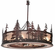 Meyda Tiffany 108064 Chandel-Air Tall Pines Rustic Pendant Light