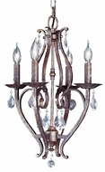 Feiss F1800-4-PBR Mademoiselle 4 Light Mini Foyer Fixture
