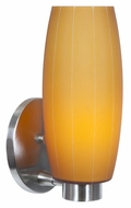 Access 23970-BS-AMB Pearl�Brushed Steel Finish 12 Inch Tall Amber Glass Wall Sconce