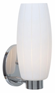 Access 23970-CH-WHT Pearl�Transitional White Glass Chrome Finish 12 Inch Tall Lamp Sconce