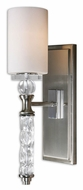 Uttermost 22486 Campania 19 Inch Tall Brushed Nickel Wall Lighting Sconce With Glass Body