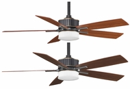 Fanimation Fans FPD8087BA Landan LED Uplight/Downlight Ceiling Fan with Bronze Accent Finish and Reversible Cherry/Walnut Wood Blades