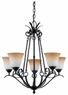 Quoizel JF5005HD Jennifer 5 Light 29 Inch Tall Antique Chandelier With Bronze Finish