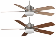 Fanimation Fans FPD8087SN Landan LED Uplight/Downlight Ceiling Fan with Satin Nickel Finish and Reversible Cherry/Maple Blades
