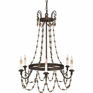 Quoizel RJU5006MA Julian Gold 6 Light Candelabra Crystal Chandelier