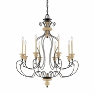 Quoizel SHL5008SEC Shelby Large Traditional 35 Inch Diameter 8 Candle Lighting Chandelier