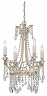 Quoizel TCA5004VP Tricia Crystal 21 Inch Diameter Classic 4 Candle Chandelier