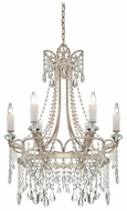 Quoizel TCA5006VP Tricia Medium 6 Candle Silver Finish Traditional Crystal Chandelier