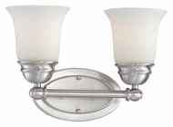 Thomas SL714278 Bella Transitional 2 Lamp 13 Inch Wide Brushed Nickel Wall Sconce Lighting