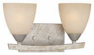 Thomas 190025772 Charles 15 Inch Wide Transitional Style Moonlight Silver 2 Lamp Wall Light Fixture