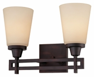 Thomas 190114704 Wright 13 Inch Wide 2 Lamp Espresso Finish Wall Sconce Light Fixture