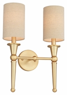 Thomas M410617 Allure 12 Inch Wide 2 Lamp Wall Sconce Light Fixture - Couture Gold