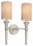 Thomas M410678 Allure Transitional Brushed Nickel Finish 2 Lamp Wall Light