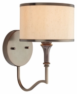 Thomas M411815 Gramercy Park 11 Inch Tall Transitional Oiled Bronze Lighting Sconce