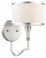Thomas M411878 Gramercy Park Wall mounted Brushed Nickel 11 Inch Tall Lamp Sconce