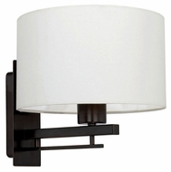 EGLO 90326A Tabea Oil Rubbed Bronze 8 Inch Tall Transitional Style Lamp Sconce