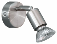 EGLO 83046A Buzz 5 Inch Wide Matte Nickel And Chrome Transitional Wall Sconce Light Fixture