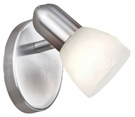 EGLO 27321A Dakar Transitional 5 Inch Tall Matte Nickel Wall Sconce Light Fixture