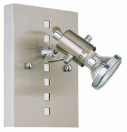 EGLO 82242A Fizz 4 Inch Tall Matte Nickel & Chrome Transitional Wall Lighting