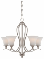 Quoizel SPH5005BN Sophia 5 Light Traditional Chandelier with Nickel Finish