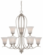 Quoizel SPH5009BN Sophia Two Tiered Nickel Finish Torch Chandelier