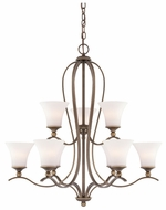 Quoizel SPH5009PN Sophia Classic Bronze Two Tiered 33.5 Inch Tall Large Chandelier