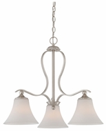 Quoizel SPH5103BN Sophia Small 21.5 Inch Tall Nickel Dinette Chandelier