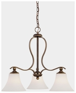 Quoizel SPH5103PN Sophia Small Bronze Classic 3-Lamp Dining Chandelier
