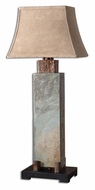 Uttermost 26308 Slate Copper Highlighted 37 Inch Tall Pillar Table Lighting