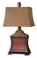 Uttermost 26326 Pavia 33 Inch Tall Aged Red Night Table Lamp