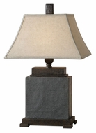 Uttermost 26336 Alturas Black Slate Transitional Table Top Lamp - 31 Inches Tall