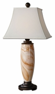 Uttermost 26433 Manciano 37 Inch Tall Transitional White Glass Lamp